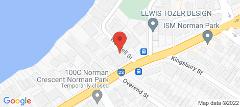 Location map for 2a Wendell Street Norman Park