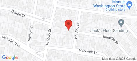 Location map for 13 Harding Street Auchenflower