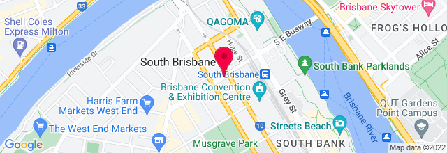 Map for Queensland Performing Arts Centre