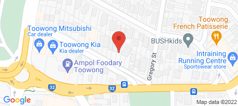 Location map for 11 Valentine Street (via Morley Street) Toowong