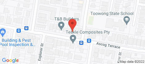 Location map for 55 Ascog Terrace Toowong