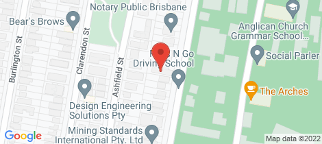 Location map for 4/40 BarkerStreet East Brisbane