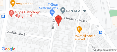 Location map for 8 Ruth Street Highgate Hill