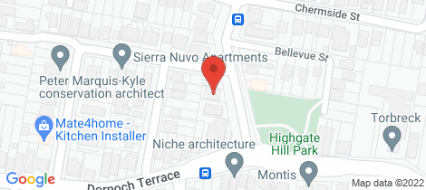 Location map for 83 Hampstead Road Highgate Hill