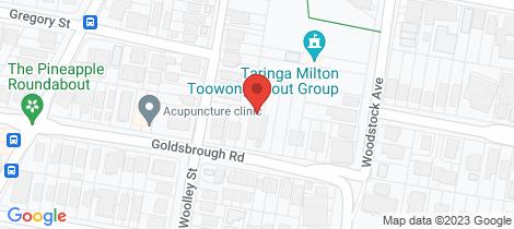 Location map for 19 Goldsbrough Road Taringa