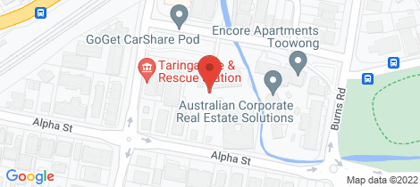 Location map for 11/29 Alpha Street Taringa