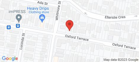 Location map for 5/63 Oxford Terrace Taringa
