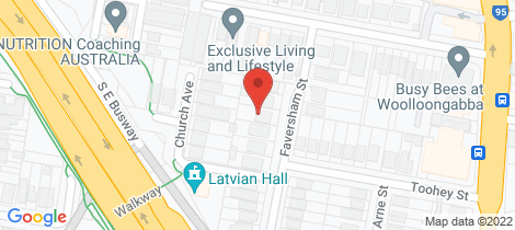 Location map for 9 Faversham Street Woolloongabba