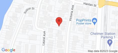 Location map for 65 Victoria Avenue Chelmer