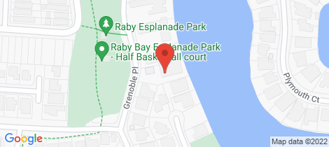 Location map for 5 Grenoble Place Raby Bay