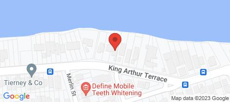 Location map for 107 King Arthur Terrace Tennyson