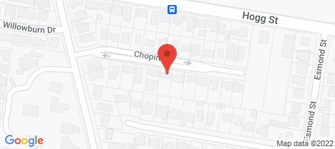 Location map for 20 Chopin Street Rockville
