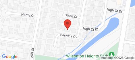 Location map for 3 Barwick Court Wilsonton Heights