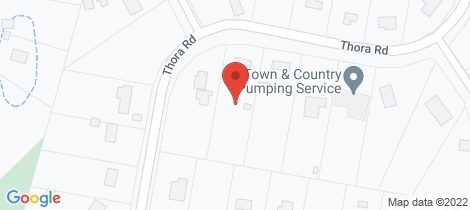 Location map for 54-56 Thora Road Cedar Grove