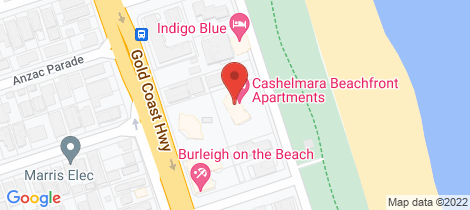 Location map for 5/170 The Esplanande Burleigh Heads