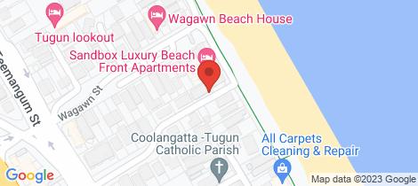 Location map for 1/15 Elizabeth Street Tugun