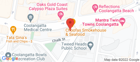 Location map for 146-150 Griffith Street Coolangatta