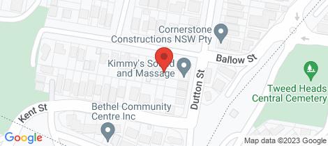 Location map for 52 Ballow Street Coolangatta