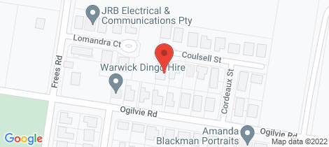 Location map for 13 Coulsell Street Warwick