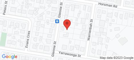 Location map for 6 Glennie Street Warwick