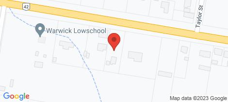 Location map for 282 Wood Street Warwick