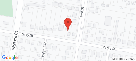 Location map for 132 Percy Street Warwick
