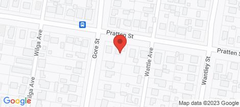 Location map for 108 Pratten Street Warwick