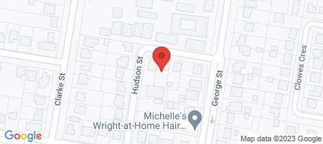 Location map for 4 Hudson Street Warwick