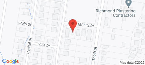 Location map for 7 Affinity Drive Warwick