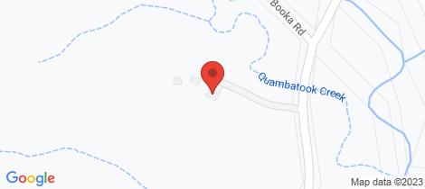 Location map for 509 Upper Crystal Creek Rd Crystal Creek