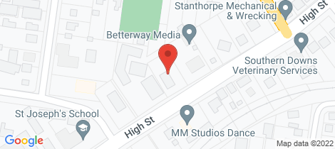 Location map for 98 High Street Stanthorpe