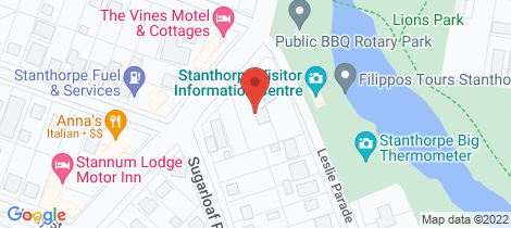 Location map for 3-7 Wallangarra Road Stanthorpe