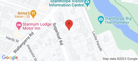 Location map for 132 Sugarloaf Road Stanthorpe