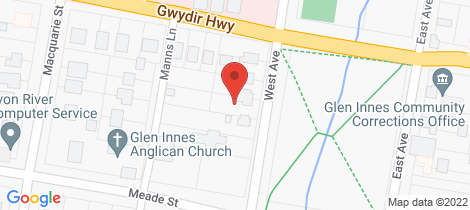 Location map for 142 West Avenue Glen Innes