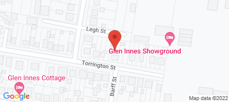 Location map for 32 TORRINGTON STREET Glen Innes