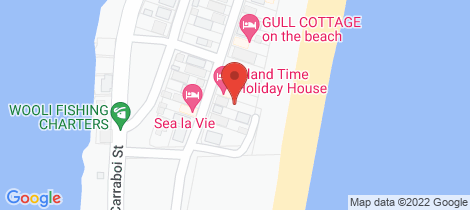 Location map for 102 Main Street Wooli
