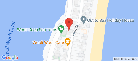 Location map for 45 Riverside Drive Wooli