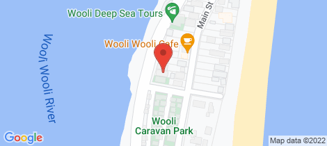 Location map for 27 Riverside Drive Wooli