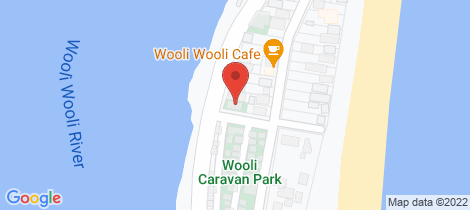 Location map for 17 Riverside Drive Wooli