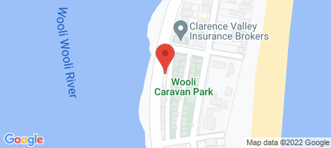 Location map for 7 Riverside Drive Wooli