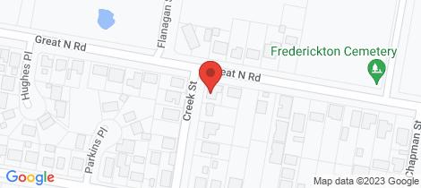 Location map for 17 Creek Street Frederickton