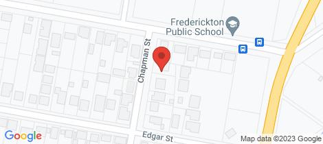 Location map for 19 Chapman Street Frederickton
