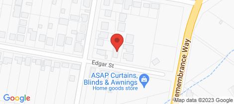 Location map for 9 Edgar Street Frederickton