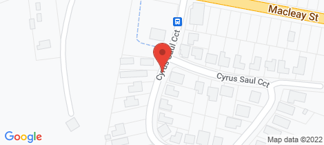 Location map for 2/66 Cyrus Saul Cct (r) Frederickton