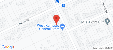 Location map for 72 Sea Street West Kempsey