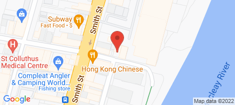 Location map for 50 Forth Street Kempsey