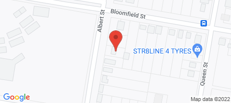 Location map for 13 Albert Street South Kempsey