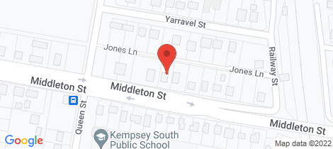 Location map for 44 Middleton Street South Kempsey