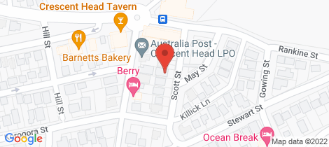 Location map for 7 Scott Street Crescent Head