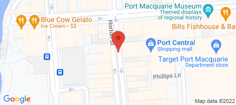Location map for 2/16 Campus Street Port Macquarie